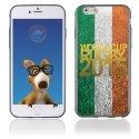 TPU1IPHONE6GOLDIRLANDE - Coque Souple en gel pour Apple iPhone 6 avec impression logo rugby doré et drapeau de l'Irlande