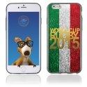 TPU1IPHONE6GOLDITALIE - Coque Souple en gel pour Apple iPhone 6 avec impression logo rugby doré et drapeau de l'Italie