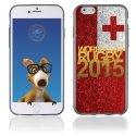 TPU1IPHONE6GOLDTONGA - Coque Souple en gel pour Apple iPhone 6 avec impression logo rugby doré et drapeau Tonga