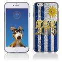 TPU1IPHONE6GOLDURUGUAY - Coque Souple en gel pour Apple iPhone 6 avec impression logo rugby doré et drapeau de l'Uruguay
