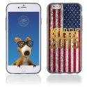 TPU1IPHONE6GOLDUSA - Coque Souple en gel pour Apple iPhone 6 avec impression logo rugby doré et drapeau des ??tats-Unis