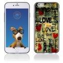 TPU1IPHONE6LOVEVINTAGE - Coque Souple en gel pour Apple iPhone 6 avec impression Love Vintage