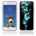 TPU1IPHONE6PAPILLONSBLEUS - Coque Souple en gel pour Apple iPhone 6 avec impression papillons bleus