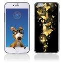 TPU1IPHONE6PAPILLONSOR - Coque Souple en gel pour Apple iPhone 6 avec impression papillons dorés
