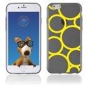 TPU1IPHONE6RONDSJAUNES - Coque Souple en gel pour Apple iPhone 6 avec impression ronds jaunes