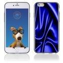 TPU1IPHONE6SOIEBLEU - Coque Souple en gel pour Apple iPhone 6 avec impression soie drapée bleue