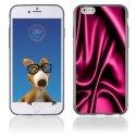TPU1IPHONE6SOIEROSE - Coque Souple en gel pour Apple iPhone 6 avec impression soie drapée rose