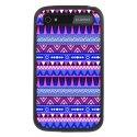 TPU1Q20AZTEQUEBLEUVIO - Coque souple pour Blackberry Classic avec impression Motifs aztèque bleu et violet
