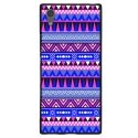 TPU1XPERIAXA1AZTEQUEBLEUVIO - Coque souple pour Sony Xperia XA1 avec impression Motifs aztèque bleu et violet