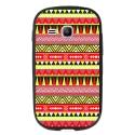 TPU1YOUNG2AZTEQUEJAUROU - Coque souple pour Samsung Galaxy Young 2 SM-G130 avec impression Motifs aztèque jaune et rouge