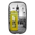 TPU1YOUNG2CABINEUKJAUNE - Coque souple pour Samsung Galaxy Young 2 SM-G130 avec impression Motifs cabine téléphonique UK jau
