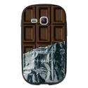 TPU1YOUNG2CHOCOLAT - Coque souple pour Samsung Galaxy Young 2 SM-G130 avec impression Motifs tablette de chocolat