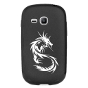 TPU1YOUNG2DRAGONTRIBAL - Coque souple pour Samsung Galaxy Young 2 SM-G130 avec impression Motifs dragon tribal