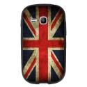 TPU1YOUNG2DRAPUKVINTAGE - Coque souple pour Samsung Galaxy Young 2 SM-G130 avec impression Motifs drapeau UK vintage
