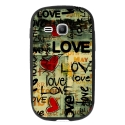 TPU1YOUNG2LOVEVINTAGE - Coque souple pour Samsung Galaxy Young 2 SM-G130 avec impression Motifs Love Vintage
