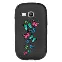 TPU1YOUNG2PAPILLONS - Coque souple pour Samsung Galaxy Young 2 SM-G130 avec impression Motifs papillons colorés
