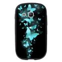 TPU1YOUNG2PAPILLONSBLEUS - Coque souple pour Samsung Galaxy Young 2 SM-G130 avec impression Motifs papillons bleus