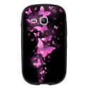 TPU1YOUNG2PAPILLONSFUSHIAS - Coque souple pour Samsung Galaxy Young 2 SM-G130 avec impression Motifs papillons fushias