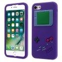 TPUGAMEBOYIP7VIOLET - Coque iPhone 7 souple mauve aspect game boy en relief