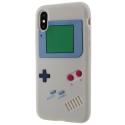 TPUGAMEBOYIPXGRIS - Coque iPhone X souple grise aspect game boy en relief