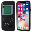 TPUGAMEBOYIPXNOIR - Coque iPhone X souple noire aspect game boy en relief