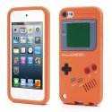 TPUGAMEBOYTOUCH5ORANGE - Coque souple orange aspect Game Boy pour iPod Touch 5