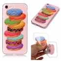TPUIP7-DONUTS - Coque souple iPhone 7/8 transparent motif Donuts
