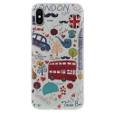 TPUIPX-BDLONDON - Coque souple iPhone X motif London BD matière flexible enveloppante