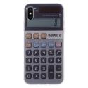 TPUIPX-CALCULETTE - Coque souple iPhone X motif Calculatrice matière flexible enveloppante