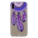 TPUIPX-DREAMVIO - Coque souple iPhone X motif Dreamcatcher violet matière flexible enveloppante