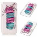 TPUIPX-MACARONS - Coque souple iPhone X motif Macarons rose matière flexible enveloppante