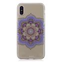 TPUIPX-MANDALAVIO - Coque souple iPhone X motif mandala violet matière flexible enveloppante
