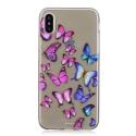 TPUIPX-PAPILLONS - Coque souple iPhone X motif papillons matière flexible enveloppante
