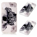 TPUIPX-SKULLROSES - Coque souple iPhone X motif Skull Roses matière flexible enveloppante