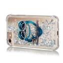 TPUPAILLIP7-CHOUETTE - Coque souple iPhone 7/8 transparent avec paillettes et chouette