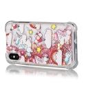TPUPAILLIPX-LICORNE - Coque souple iPhone X transparent avec paillettes et licornes