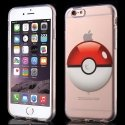 TPUPOKEBALLRED-IP6 - Coque souple motif Poke-Ball rouge pour iPhone 6s