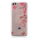 TPUPSMART-FLOWERS - Coque souple Huawei P-Smart transparent motif fleurs