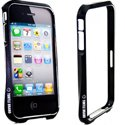 BUMPTURTLEIP4-NO - Protection Bumper Aluminium Noir iPhone 4 et 4S