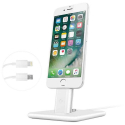 TW-HIRISE2LUXE-BLANC - Support de charge Twelve-South HiRise 2 Deluxe iPhone Lightning aluminium blanc