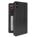 TWS-JOURNALPXNOIR - Etui Twelve-South Journal Portefeuille iPhone X livre cuir noir fonction stand