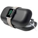 TWS-TIMEPORTERNOIR - Stand de charge pour Apple Watch et pochette de rangement