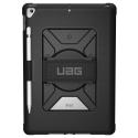 UAG-HANDSTRAPIPAD102 - Coque UAG iPad 10.2 renforcé et antichoc coloris noir avec angle Handstrap