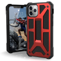 UAG-IP11PMAX-MONAROUGE - Coque UAG iPhone 11 PRO MAX série Monarch 5 couches antichoc et alliage métal coloris rouge