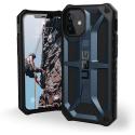 UAG-IP12MINI-MONABLEU - Coque UAG iPhone 12 Mini série Monarch 5 couches antichoc et alliage métal bleu
