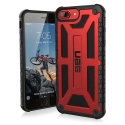 UAG-IPH8PLUSMONAROUGE - Coque UAG iPhone 7/8 Plus série Monarch 5 couches antichoc et alliage métal rouge