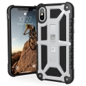 UAG-IPHX-M-PL - Coque UAG iPhone X série Monarch 5 couches antichoc et alliage métal coloris Platinum