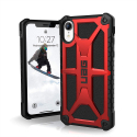 UAG-IPHXRMONAROUGE - Coque UAG iPhone XR série Monarch 5 couches antichoc et alliage métal coloris rouge