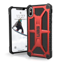 UAG-IPHXSMAXMONAROUGE - Coque UAG iPhone Xs Max série Monarch 5 couches antichoc et alliage métal rouge