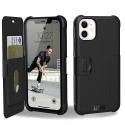 UAG-METROIP11NOIR - Etui iPhone 11 UAG renforcé avec rabat latéral noir logements cartes